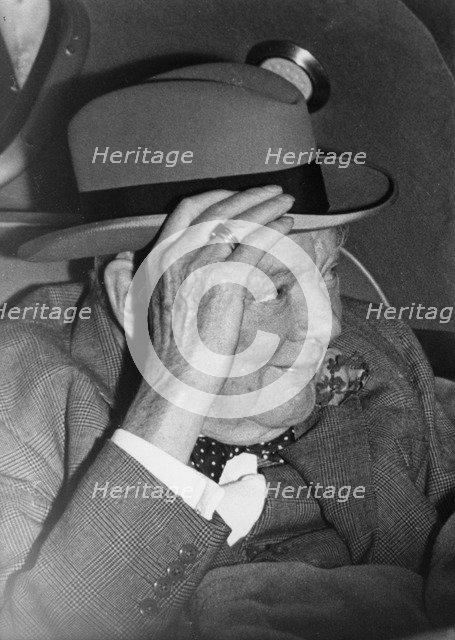 Sir Winston Churchill in Monte Carlo, 1962. Artist: Unknown