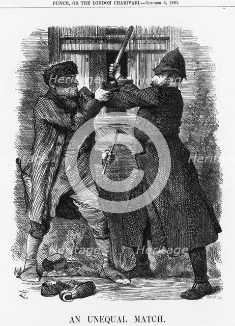 'An Unequal Match', 1881. Artist: Joseph Swain