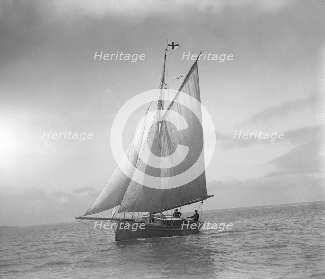 The cutter 'Sophie' sailing upwind. Creator: Kirk & Sons of Cowes.