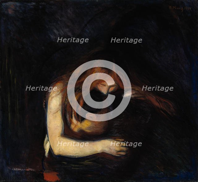 The Vampire (Love and Pain), 1894. Artist: Munch, Edvard (1863-1944)