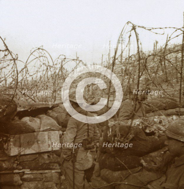 Fosse Froide trench, Champagne, northern France, c1914-c1918. Artist: Unknown.
