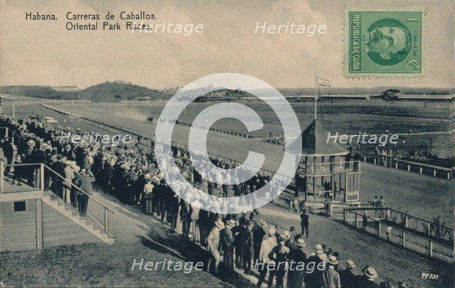 'Habana. Oriental Park Races', c1910. Artist: Unknown.