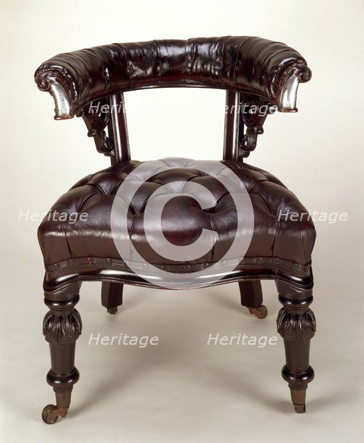 Charles Dickens' chair, before c1859. Artist: Unknown