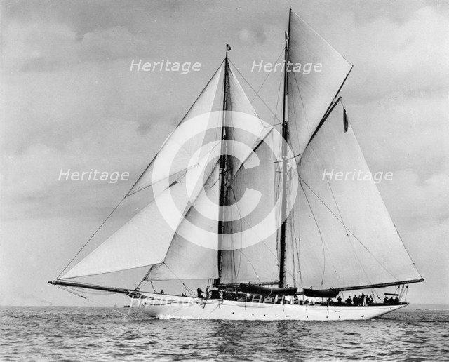 The schooner 'Pampa'. Creator: Kirk & Sons of Cowes.
