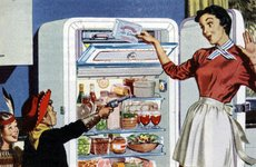Thumbnail image of Kitchen illustration, 1950s. Artist: Unknown