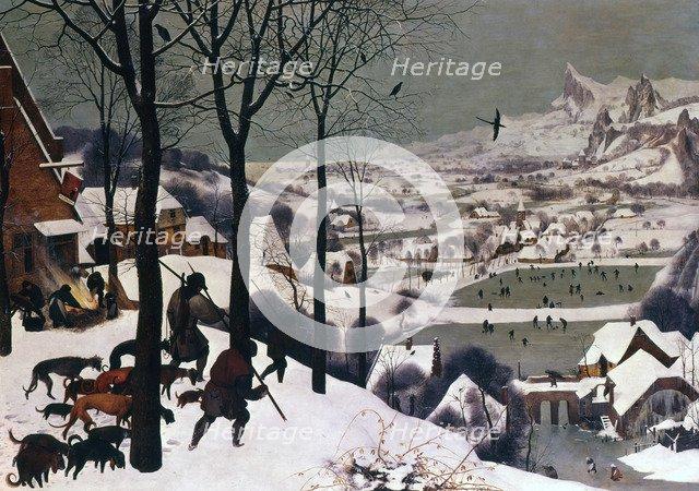 'Hunters in the Snow, February', 1565. Artist: Pieter Bruegel the Elder