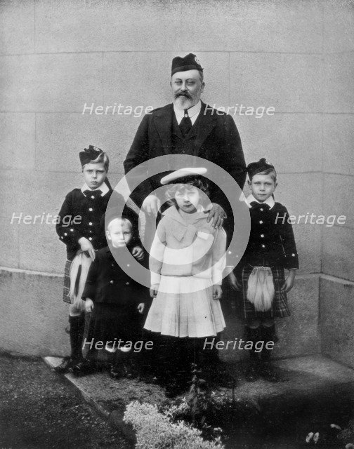 'The Late King and Some of His Grandchildren', c19102-1910 (1910). Artist: Unknown