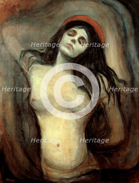 'Madonna', 1894-1895. Artist: Edvard Munch