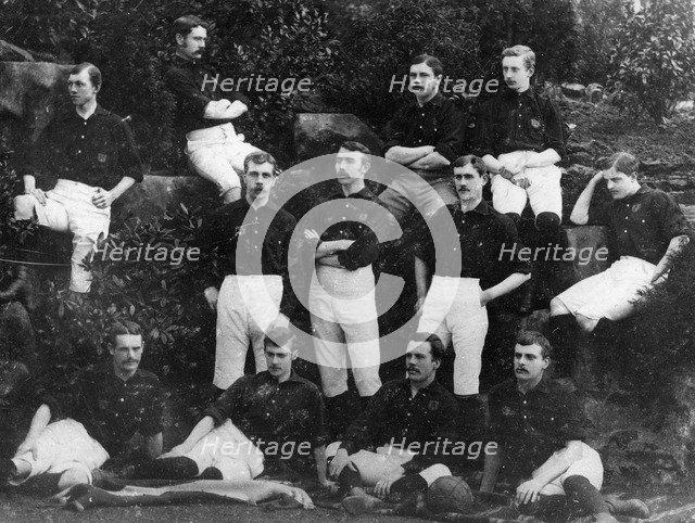 Nottingham Forest Football Club team photograph, 1884-1885. Artist: Unknown