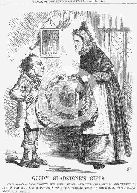 'Goody Gladstone's Gifts', 1864. Artist: John Tenniel