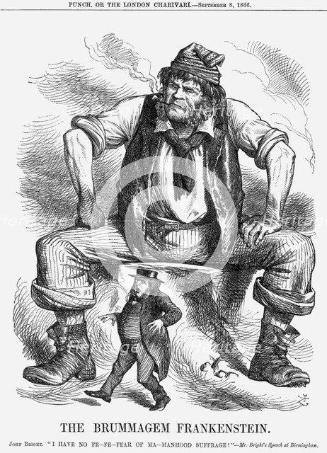 'The Brummagem Frankenstein', 1866. Artist: John Tenniel