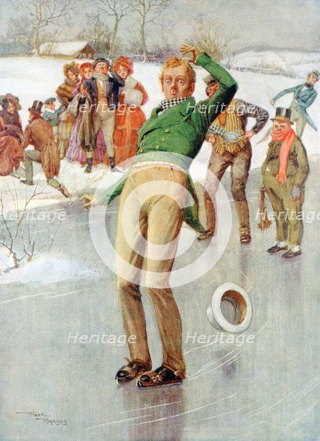 'Mr Winkle on the Ice', 1915.Artist: Frank Reynolds