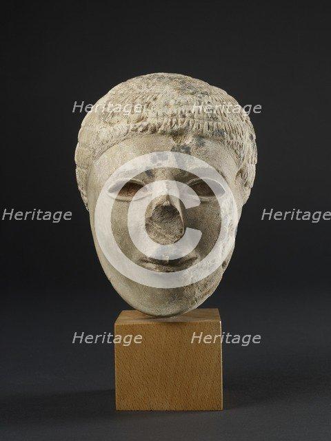 Limestone statuette of a bearded man, Protodynastic Period (Egypt) (c3300-c3200 BC). Artist: Unknown.