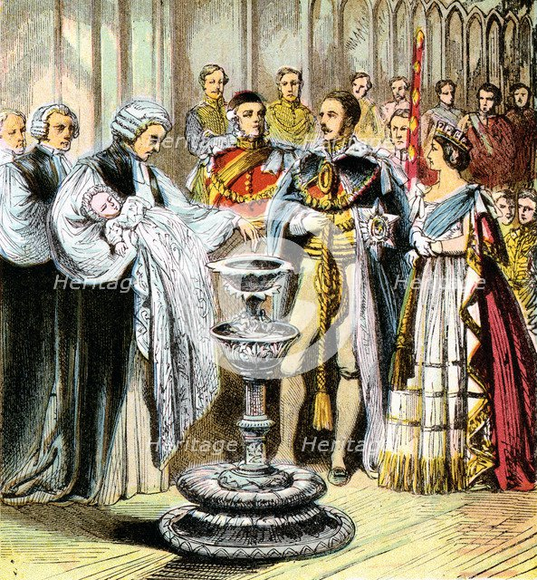 'Baptism of Prince of Wales', 1842 (c1850s). Artist: Unknown