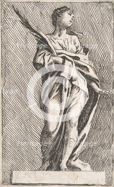 Standing Female Figure, ca. 1739-40., ca. 1739-40. Creator: Pierre Ignace Parrocel.