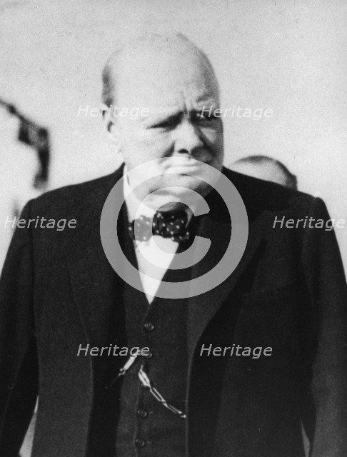 Winston Churchill (1874-1965), British prime minister, c1950s. Artist: Unknown