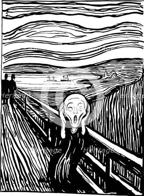 'The Scream', 1895.  Artist: Edvard Munch
