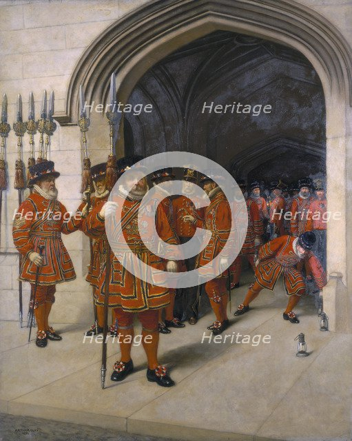 'The Yeomen of the Guard searching the crypt of the Houses of Parliament', 1894. Artist: Sir Arthur Temple Felix Clay