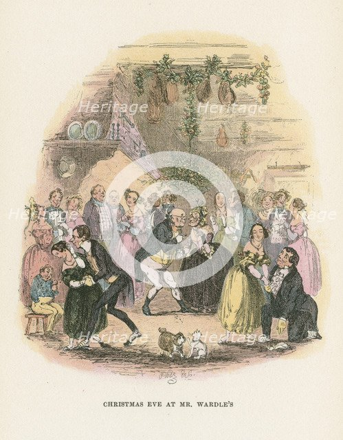 Scene from The Posthumous Papers of the Pickwick Club by Charles Dickens, 1836-1837. Artist: Hablot Knight Browne