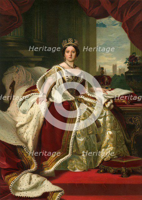 'Her Majesty The Queen in Her Robes of State', 1859, (c1897). Artist: Eyre & Spottiswoode.
