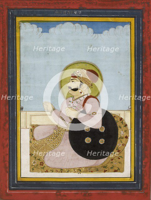 Portrait of a seated Raja, 19th century. Artist: Unknown.