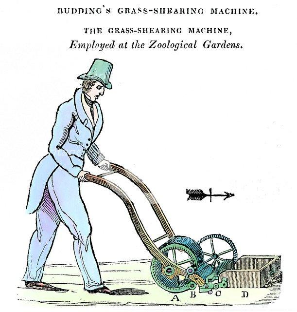 'Budding's Grass-shearing Machine', c1832. Artist: Unknown