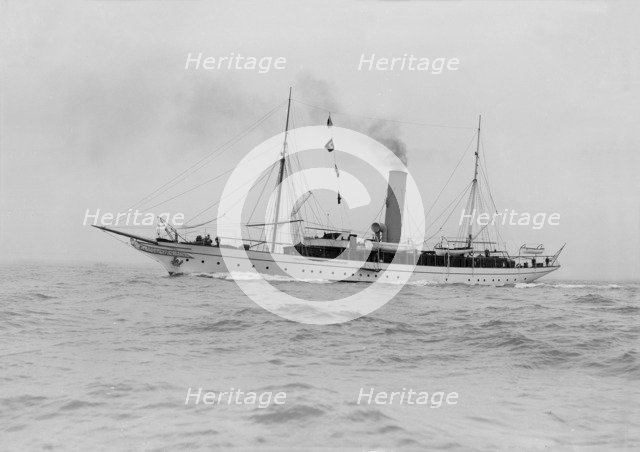 The steam yacht 'Jason', 1913. Creator: Kirk & Sons of Cowes.