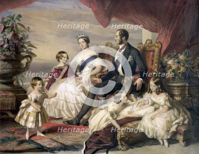 'Queen Victoria and Prince Albert with Five of their Children', 1846. Artist: Unknown