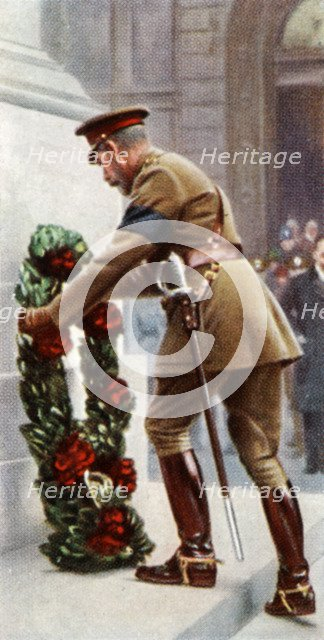 King George V at the Cenotaph, November 11th, 1920, (c1935). Artist: Unknown