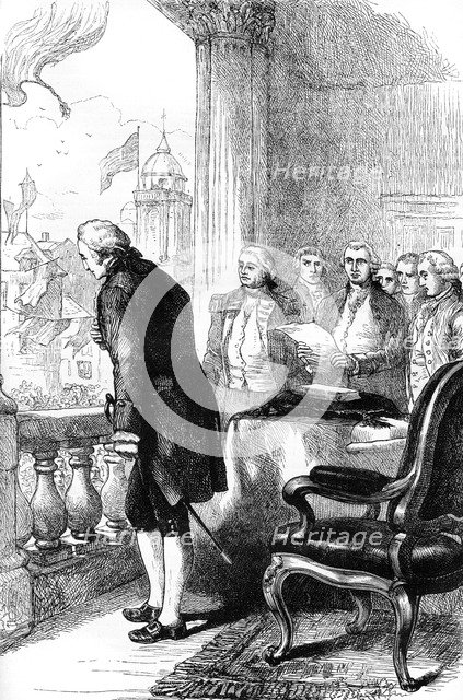 The installation of George Washington as President of the United States, 1789 (c1880). Artist: Unknown