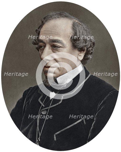 Benjamin Disraeli, Earl of Beaconsfield, British Conservative Prime Minister, 1881.Artist: Lock & Whitfield
