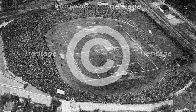 Aerial view of Stamford Bridge, stadium of Chelsea Football Club, London, c1922. Artist: Unknown