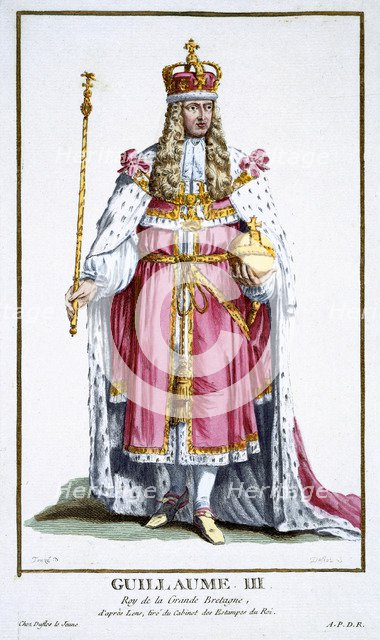 William III, King of Great Britain and Ireland, (1780). Artist: Pierre Duflos
