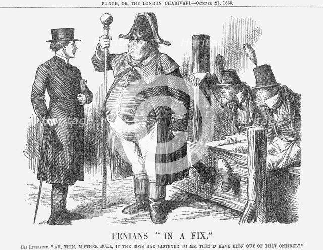 'Fenians In A Fix', 1865. Artist: John Tenniel