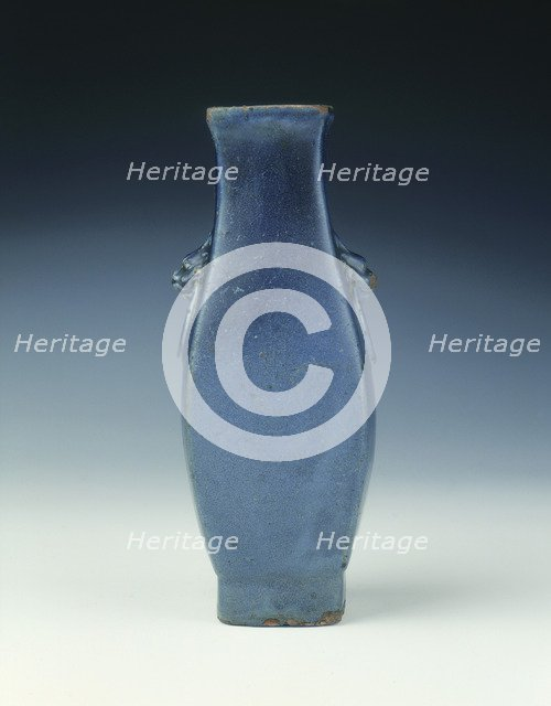 Shiwan blue vase, Late Ming dynasty, China, 1600-1644. Artist: Unknown