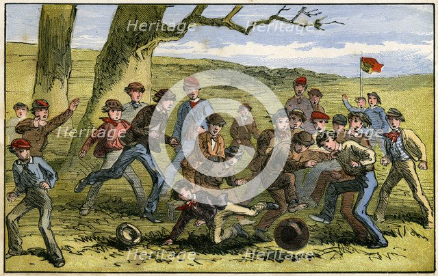 A game of football, 19th century(?). Artist: Unknown