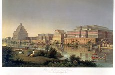 Thumbnail image of 'The Palaces of Nimrud Restored', 1853. Artist: Unknown