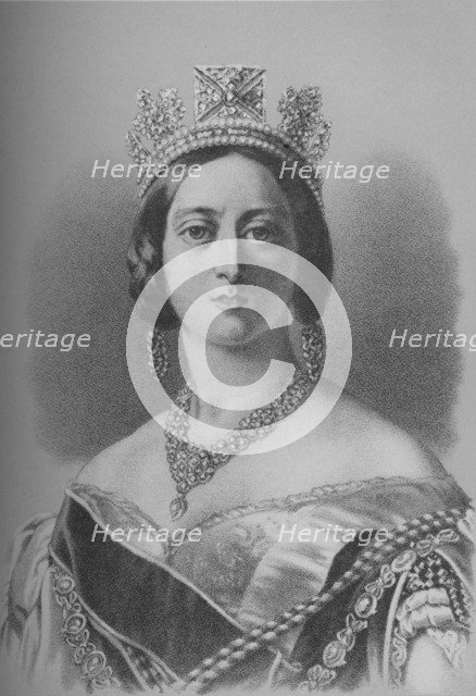 Queen Victoria, 1843 (1936). Artist: Unknown.