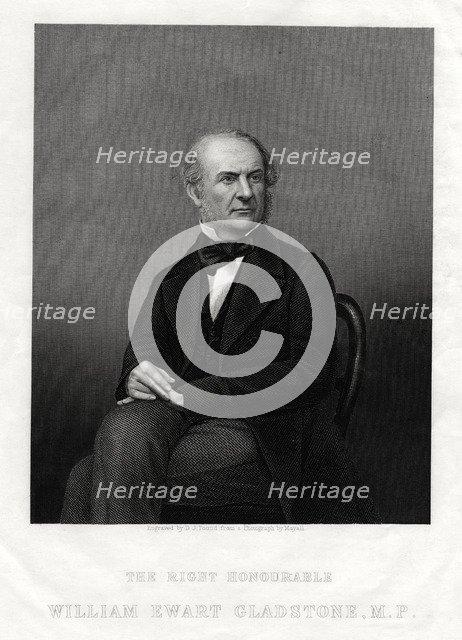 William Ewart Gladstone MP, British Liberal Prime Minister, 1880.Artist: DJ Pound