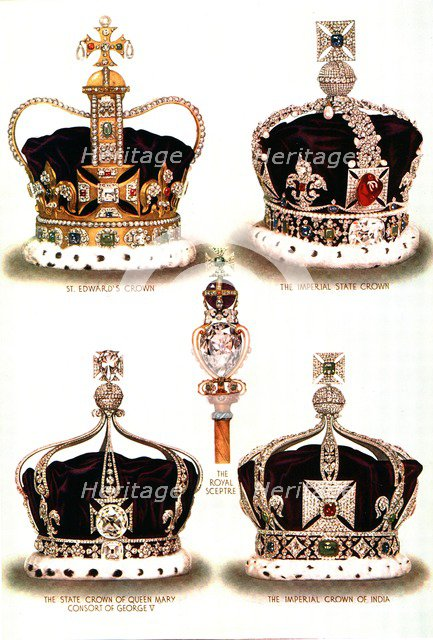 Symbols of Imperial Majesty, c1935. Artist: George John Younghusband.