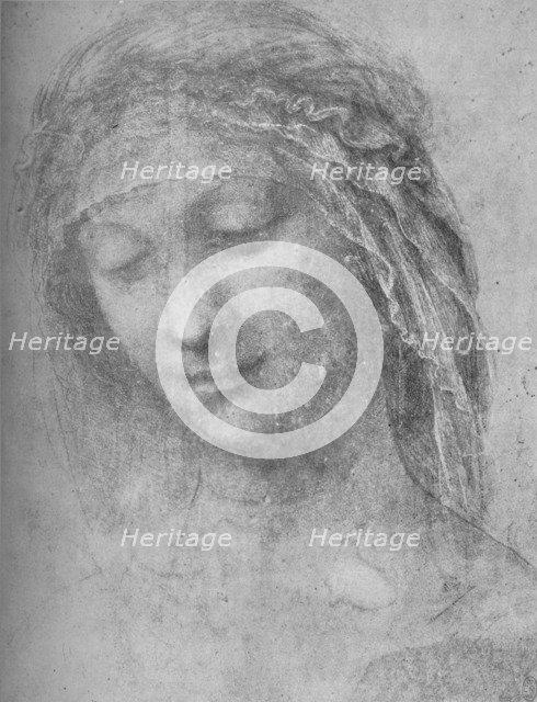 'Head of a Woman Three-Quarters to the Left', c1480 (1945). Artist: Leonardo da Vinci.