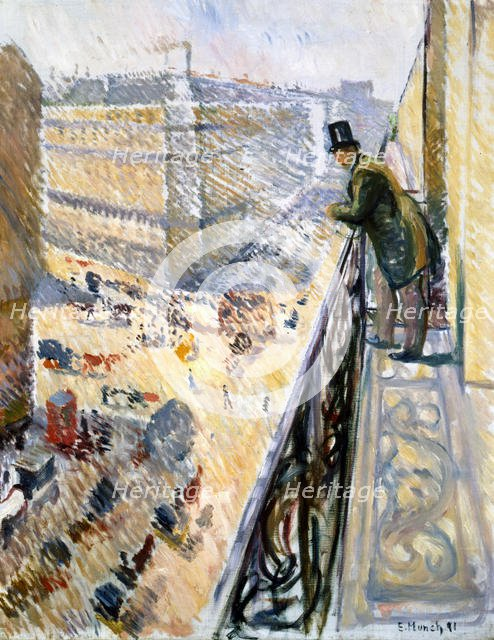 'Rue Lafayette', Paris, 1891.  Artist: Edvard Munch