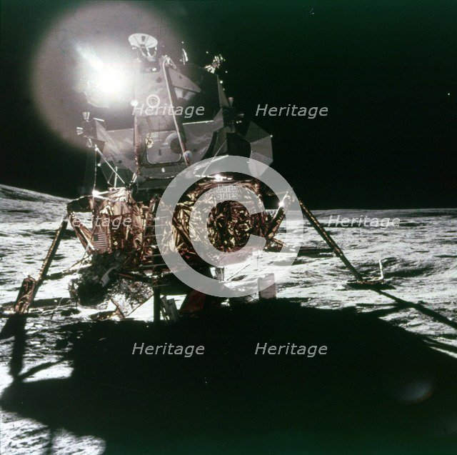 Lunar Module 'Antares' on the Moon, Apollo 14 mission, February 1971.