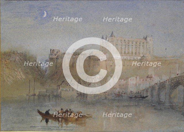 The Bridge and Chateau at Amboise, c1830. Artist: JMW Turner.