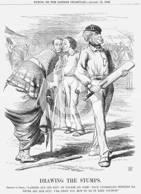 'Drawing The Stumps', 1862. Artist: John Tenniel