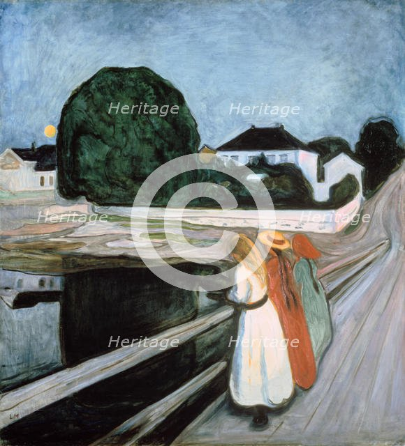 'Girls on the Bridge', 1901. Artist: Edvard Munch
