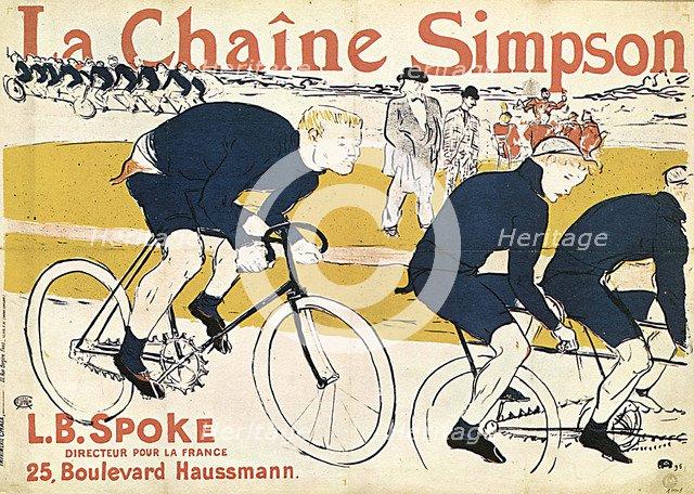 'La chaîne Simson', (Advertising Poster), 1896.  Artist: Henri de Toulouse-Lautrec