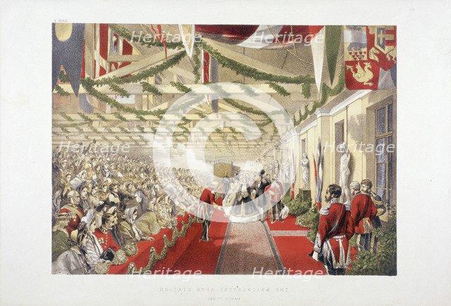 Princess Alexandra's arrival at Bricklayers' Arms Station, Bermondsey, London, 1863. Artist: Anon