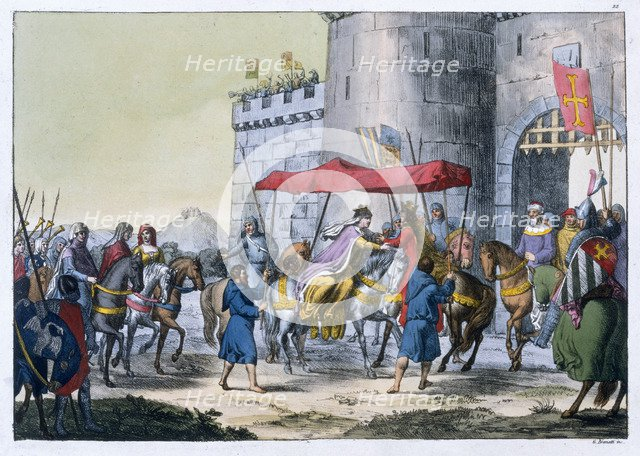 The wedding of Edward I and Eleanor of Castile, 1254 (19th century) Artist: Unknown