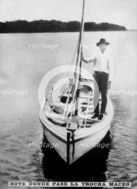 Postal Boat and the Trocha, (1890s), 1920s. Artist: Unknown